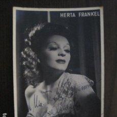 Autógrafos de Música : HERTA FRANKEL - FOTOGRAFIA CON AUTOGRAFO -VER FOTOS-(V-13.175). Lote 109279943