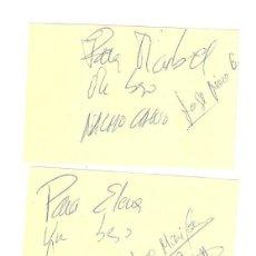 Autógrafos de Música : LOTE 3 POST IT CON AUTÓGRAFOS DE MECANO. ANA , JOSÉ MARÍA Y NACHO CANO. Lote 111627551
