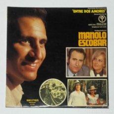 Autógrafos de Música : AUTÓGRAFO ORIGINAL DE MANOLO ESCOBAR, AIRES NAVIDEÑOS 1970, VINILO LP. Lote 111999375