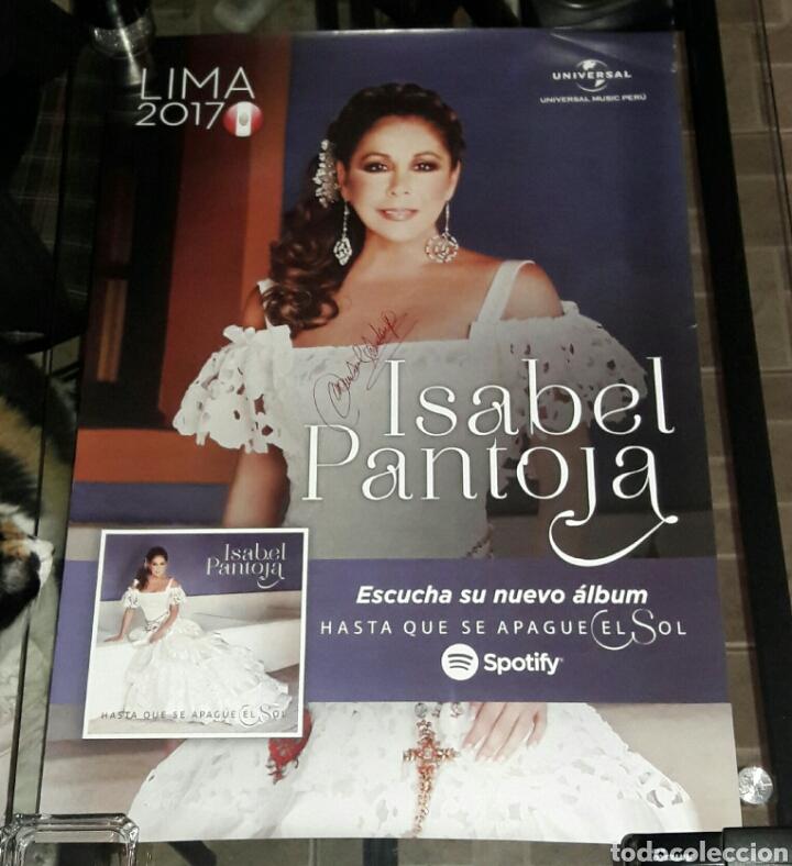 ISABEL PANTOJA, POSTER AUTOGRAFIADO (Música - Autógrafos de Cantantes )