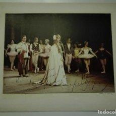 Autógrafos de Música : ROMEO Y JULIETA. LICEU 1963-64.DEDICADA Y FIRMADA POR MADY MESPLÉ Y LA BAILARINA AURORA PONS.. Lote 114454379