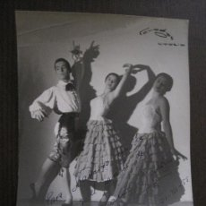 Autógrafos de Música : FOTOGRAFIA AUTOGRAFO - HERMANOS GALAN - VER FOTOS - (V-13.923). Lote 116110627