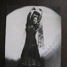 Autógrafos de Música : FOTOGRAFIA AUTOGRAFO - CARMEN CEBRIAN - VER FOTOS - (V-13.926). Lote 116111139