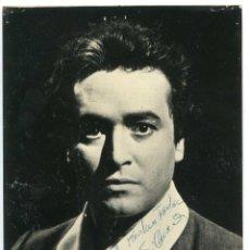 Autógrafos de Música : FOTOGRAFÍA CON AUTÓGRAFO DEL TENOR JOSÉ CARRERAS 12,6X17,7 CM. ÓPERA. Lote 116866475
