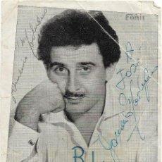 Autógrafos de Música : AUTOGRAFO DOMENICO MODUGNO .- SALA BOLERO DE BARCELONA . Lote 118786667