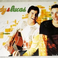 Autógrafos de Música : POSTAL DE ANDY & LUCAS CON DEDICATORIA Y FIRMA DE LUCAS. Lote 120732255