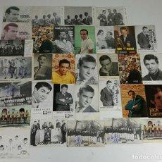 Autógrafos de Música : COLECCION DE 33 TARGETAS DE ARTISTAS AUTOGRAFIADAS. CIRCA 1960. . Lote 122060447