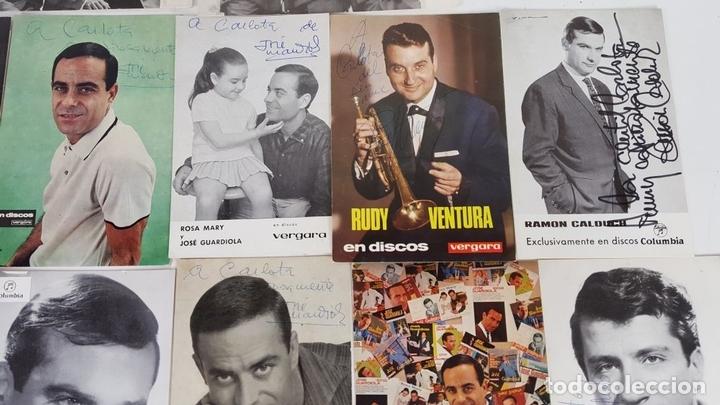 Autógrafos de Música : COLECCION DE 33 TARGETAS DE ARTISTAS AUTOGRAFIADAS. CIRCA 1960. - Foto 3 - 122060447