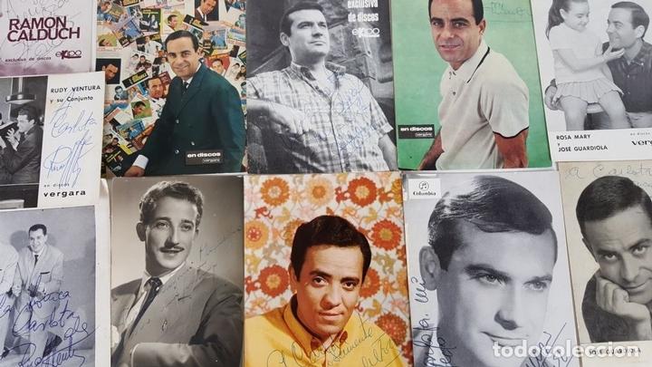 Autógrafos de Música : COLECCION DE 33 TARGETAS DE ARTISTAS AUTOGRAFIADAS. CIRCA 1960. - Foto 4 - 122060447