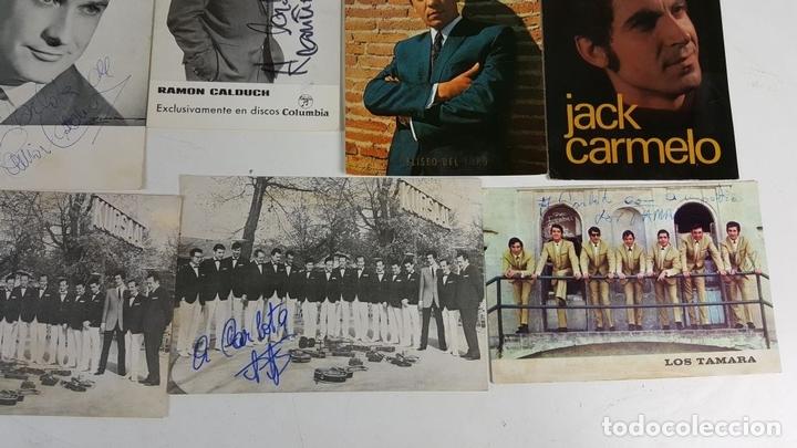 Autógrafos de Música : COLECCION DE 33 TARGETAS DE ARTISTAS AUTOGRAFIADAS. CIRCA 1960. - Foto 5 - 122060447
