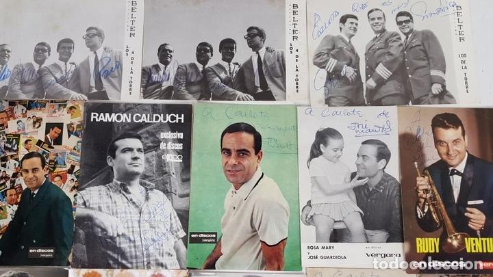 Autógrafos de Música : COLECCION DE 33 TARGETAS DE ARTISTAS AUTOGRAFIADAS. CIRCA 1960. - Foto 6 - 122060447