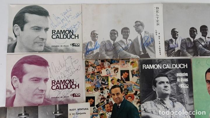 Autógrafos de Música : COLECCION DE 33 TARGETAS DE ARTISTAS AUTOGRAFIADAS. CIRCA 1960. - Foto 7 - 122060447