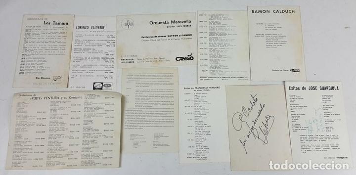 Autógrafos de Música : COLECCION DE 33 TARGETAS DE ARTISTAS AUTOGRAFIADAS. CIRCA 1960. - Foto 8 - 122060447