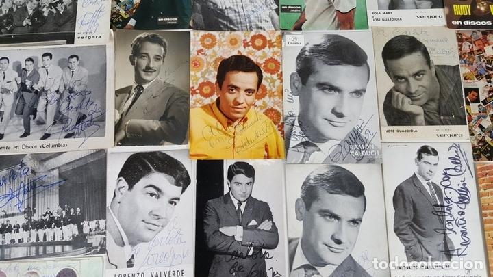 Autógrafos de Música : COLECCION DE 33 TARGETAS DE ARTISTAS AUTOGRAFIADAS. CIRCA 1960. - Foto 10 - 122060447