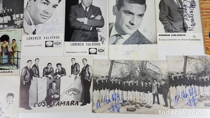 Autógrafos de Música : COLECCION DE 33 TARGETAS DE ARTISTAS AUTOGRAFIADAS. CIRCA 1960. - Foto 11 - 122060447
