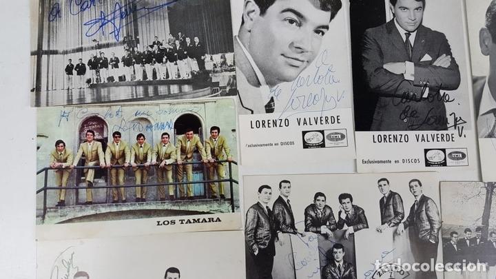 Autógrafos de Música : COLECCION DE 33 TARGETAS DE ARTISTAS AUTOGRAFIADAS. CIRCA 1960. - Foto 12 - 122060447