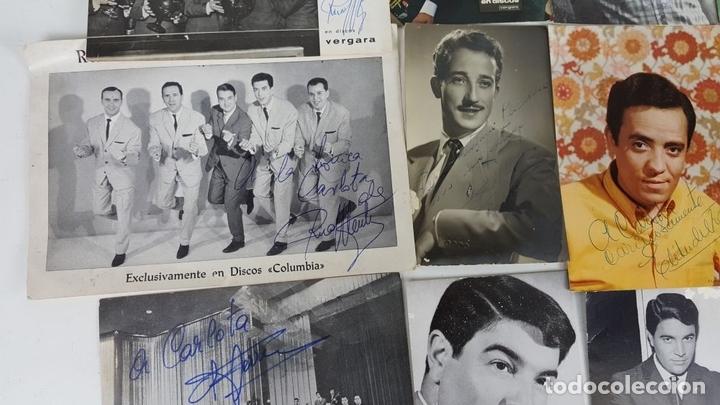 Autógrafos de Música : COLECCION DE 33 TARGETAS DE ARTISTAS AUTOGRAFIADAS. CIRCA 1960. - Foto 13 - 122060447