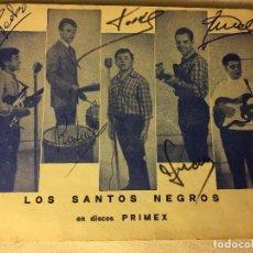 Autógrafos de Música : RA4 ANTIGUO AUTOGRAFO GRUPO LOS SANTOS NEGROS. Lote 122254239