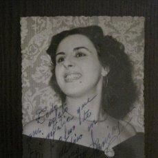 Autógrafos de Música : MARIA TERESA PANAIGUA-AUTOGRAFO-FOTOGRAFIA ANTIGUA FIRMADA-VER FOTOS- (V-14.603). Lote 122575307