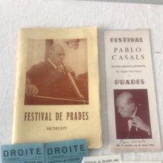 Autógrafos de Música : PROGRAMA FESTIVAL DE PRADES 1964 CON AUTÓGRAFOS DE PAU CASALS DE PUÑO Y LETRA VER FOTOS.. Lote 123569623