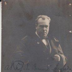 Autógrafos de Música : FOTOGRAFIA I AMPLIA DEDICATÓRIA DE JOAN LAMOTE DE GRIGNON AL PALAU DE LA MÚSICA CATALANA 1919. Lote 128559695