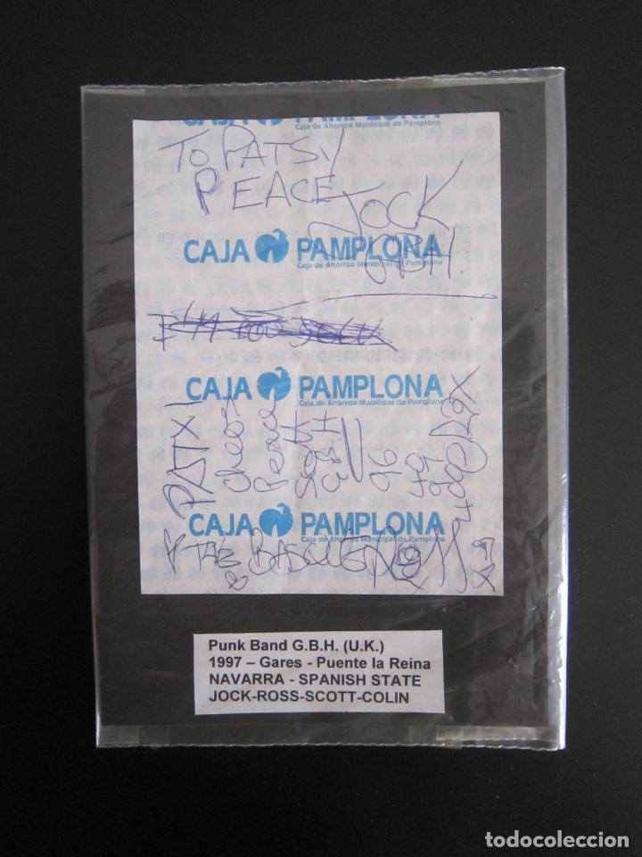 AUTÓGRAFO - GRUPO PUNK - G.B.H. (JOCK, ROSS, SCOTT, COLIN) - 1997 - U.K. (Música - Autógrafos de Cantantes )