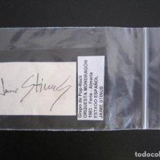 Autografi di Musica : AUTÓGRAFO - ORQUESTA MONDRAGÓN (JAIME STINUS) - 1983. Lote 131823246