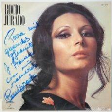 Autógrafos de Música : VINILO DE LA CANTATE ROCIO JURADO.AUTOGRAFO.DECICADO Y FIRMADO DE PUÑO Y LETRA.1971. Lote 132363026