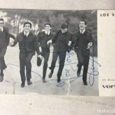 Autógrafos de Música : LOS SIREX AUTOGRAFO AUTOGRAFOS ORIGINALES, VERGARA AÑOS 60/70. Lote 133809386