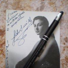 Autógrafos de Música : FOTO LOLA SEVILLA. FIRMADA Y DEDICADA. AÑO 1952. MUY BUENA CONSERVACION. Lote 134165002