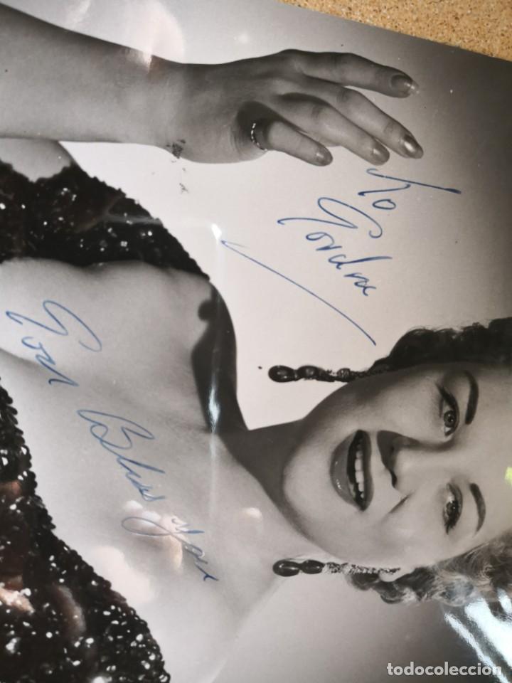 Autógrafos de Música : Fotografía de Anne Shelton para Gordon. Firmada autógrafo. Medida 25x19. Associated rediffusion ltd - Foto 3 - 136003078