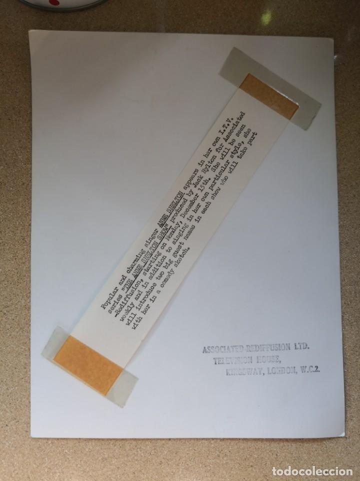 Autógrafos de Música : Fotografía de Anne Shelton para Gordon. Firmada autógrafo. Medida 25x19. Associated rediffusion ltd - Foto 4 - 136003078