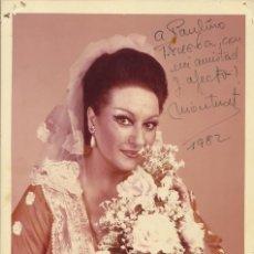 Autógrafos de Música : AUTÓGRAFO MONTSERRAT CABALLÉ. FIRMADA Y DEDICADA A PAULINO TRUEBA. METROPOLITAN OPERA. TOSCA. 1982.. Lote 202421501