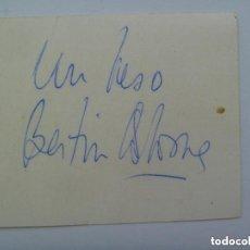 Autógrafos de Música : AUTOGRAFO ORIGINAL DE BERTIN OSBORNE. MANUSCRITO.. Lote 137470462