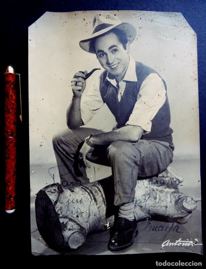 ANTONIO AMAYA, FOTOGRAFIA CON DEDICATORIA Y AUTOGRAFO. TAMAÑO 16 X 23 CM. (Música - Autógrafos de Cantantes )