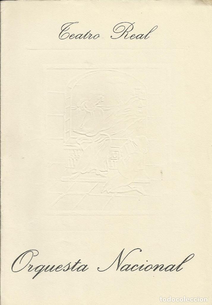 Autógrafos de Música : AUTÓGRAFO FIRMA DEL PIANISTA ANDRÉ WATTS. TEATRO REAL. 1968. ORQUESTA NACIONAL. MADRID. PROGRAMA. - Foto 3 - 139454398