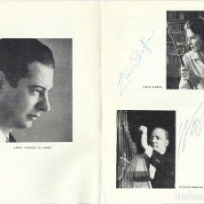 Autógrafos de Música : AUTÓGRAFO FIRMA FLAUTA ELAINE SHAFFER Y ARPA NICANOR ZABALETA. ORQUESTA NACIONAL TEATRO REAL 1969.. Lote 139470074