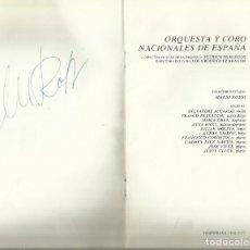 Autógrafos de Música : AUTÓGRAFO FIRMA DE MARIO ROSSI. DIRECTOR. ORQUESTA NACIONAL. TEATRO REAL. PROGRAMA 1977.. Lote 139610618