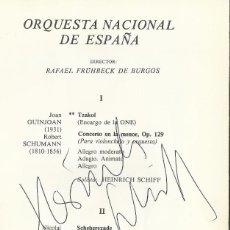 Autógrafos de Música : AUTÓGRAFO FIRMA VICTOR MARTÍN VIOLINISTA Y HEINRICH SCHIFF SOLISTA. PROGRAMA TEATRO REAL 1978 MADRID. Lote 139611354