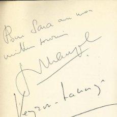 Autógrafos de Música : AUTÓGRAFO FIRMA DE JEAN-PIERRE RAMPAL. Y ROBERT VEYRON-LACROIX. PROGRAMA TEATRO REAL 1969.. Lote 139664562