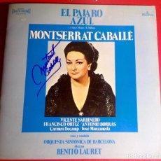 Autógrafos de Música : MONTSERRAT CABALLE VINILO LP FIRMADO. Lote 140064418