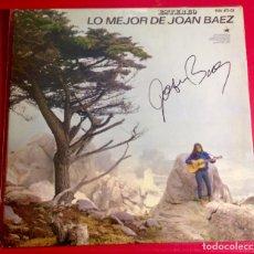 Autógrafos de Música : JOAN BAEZ LP FIRMADO. Lote 140246598