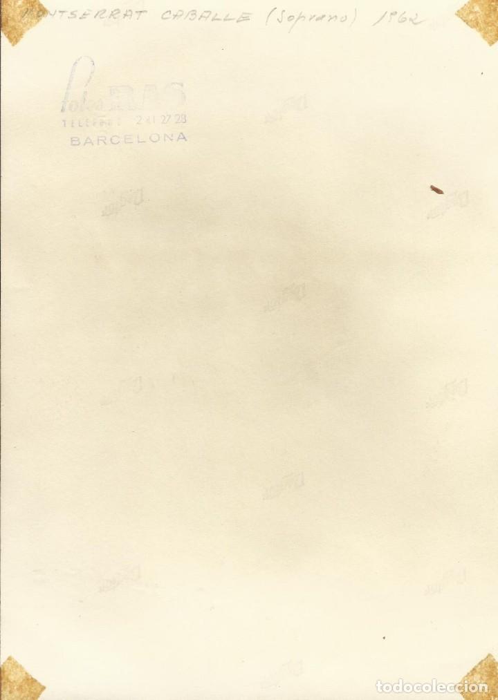 Autógrafos de Música : FOTOGRAFÍA MONTSERRAT CABALLÉ. FIRMADA, DEDICADA Y AUTÓGRAFO. GRAN TEATRO DEL LICEO. BARCELONA. - Foto 2 - 144966750