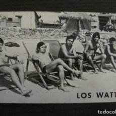 Autógrafos de Música : LOS WATTS - POSTAL CON AUTOGRAFOS -VER FOTOS-(V-15.636). Lote 145004714