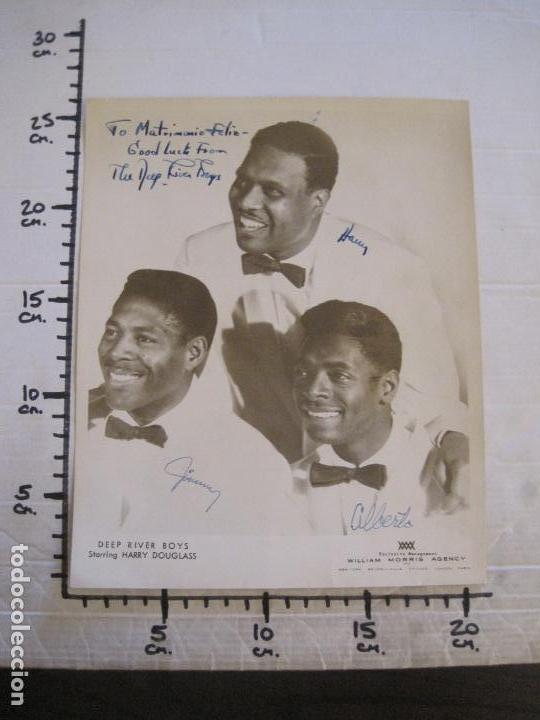 Autógrafos de Música : HARRY DOUGLAS DEEP RIVER BOYS-FOTOGRAFIA CON AUTOGRAFOS-WILLIAM MORRIS AGENCY-VER FOTOS(V-15.957) - Foto 11 - 152208790
