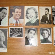 Autógrafos de Música : MUY DIFICIL LOTE DE 84 FOTOGRAFIAS PUBLICIDAD DE CANTANTES Y ARTISTAS ESPAÑOLES DEDICADAS AUTOGRAFOS. Lote 155090282