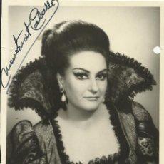 Autógrafos de Música : MONTSERRAT CABALLÉ. FOTOGRAFÍA CON AUTÓGRAFO, FIRMA. 1973. METROPOLITAN OPERA. TROVATORE. NEW YORK.. Lote 158703030