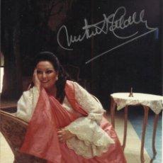 Autógrafos de Música : MONTSERRAT CABALLÉ. FOTOGRAFÍA CON AUTÓGRAFO, FIRMA. 1984. ROSENKAVALIER. BARCELONA. 17X11 CM.. Lote 158707434