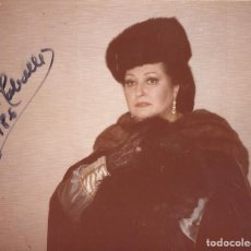 Autógrafos de Música : MONTSERRAT CABALLÉ. FOTOGRAFÍA CON AUTÓGRAFO, FIRMA. 1986. ROMANZA FINAL. PELÍCULA. 13X16 CM.. Lote 158708978