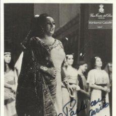 Autógrafos de Música : MONTSERRAT CABALLÉ. FOTOGRAFÍA CON AUTÓGRAFO, FIRMA Y DEDICADA. 1973. AIDA. BARCELONA. 18X13 CM.. Lote 158734646